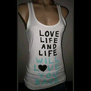 BE YOURSELF LIVE LIFE LOVE YOU BACK TANK SHIRT